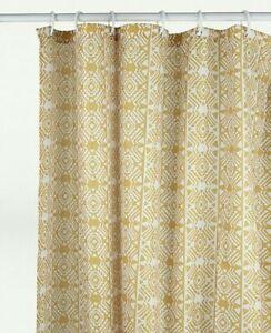 Ochre Yellow Shower Curtain Printed Geometric Curtain 180cm NEW