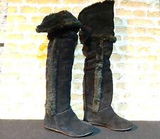 Ladies ALDO CHIRDON Suede Black Over Knee Boots UK 3 EURO 36 RRP £150 NEW