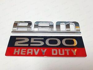 1PC NEW CHROME RED BLACK DODGE RAM 2500 HEAVY DUTY DOOR BADGES EMBLEMS LETTER