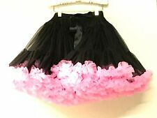 OOPSY DAISY BABY New Girls BLACK PETTISKIRT w/ HOT PINK Sz: 6-8 RTL: $79 R230