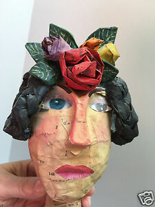 JULIA ARKELL Anothr Frida Paper Mache and Collage