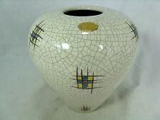Beautiful glazed  50´s WGP design Silberdistel pottery Keramik vase  58/15
