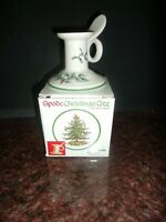 England Spode Christmas Tree Finger Loop Single Taper Candle Holder NIB