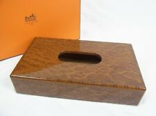 HERMES wooden wood tissue case box