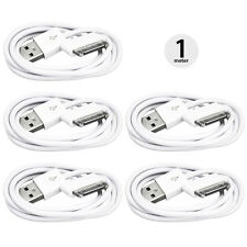 5x 30 Pin USB Data Sync Charger Charging Cable Lead iPhone 4S 4 3GS 3G iPad iPod
