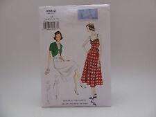 Vogue 8812 V8812, Vintage Model, Orig 1940 Design,Dress/Belt/Bolero Sz 6-14 OOP