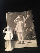 "Rare John F Kennedy Jr,   (John John)  7""  Figurine and LIFE ISSUE JFK Funeral"