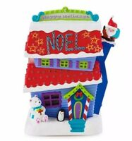 Merriest House in Town 2015 Hallmark Magic Ornament  Decorated Crazy House Santa