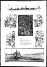 Soplado hasta 1885 usa rocas en el infierno puerta East River vistas de Nueva York (130)