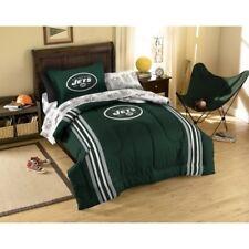 New 5pc NFL New York Jets Bedding Set Comforter Pillowcase Sheet Set Twin Size