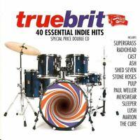 TRUEBRIT - 40 ESSENTIAL INDIE HITS various (2X CD, compilation, 1996) britpop,
