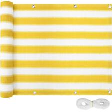 Balkon Sichtschutz Balkonverkleidung Windschutz Zaun Garten 75x600cm Gelb-Weiß