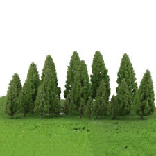 20 Pièces PLASTIQUE Vert Paysage Tour de Forme Modèle Arbres
