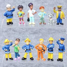 12Pcs/Set Fireman Sam Action Figure Toys Playset PVC Dolls Kids Birthday Gift