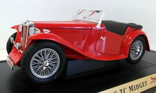 Road Signature 1/18 Scale - 92468 1947 MG Midget roadster red
