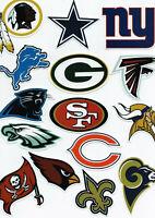 NFL Football Decal Sticker Team Logo Designs Licensed Choose your favorite team!