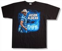 Jason Aldean Plaid Shirt Tour 2011 Black T Shirt New Official