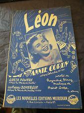 Partition Léon Annie Cordy 1952 Music Sheet