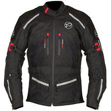Buffalo Horizon Textile & Leather Motorcycle Waterproof Jacket Black RRP £99.99