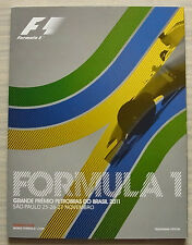 BRAZILIAN GRAND PRIX FORMULA ONE F1 2011 SAO PAULO Official Programme