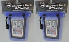 Two Waterproof Case Cover For Cell Phone, Wallet, Cameras, Money Keys Beach Pool