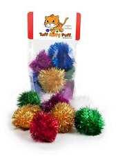 Sparkle Ball Tuff Kitty Puff® Cat Toy - 12 Pak