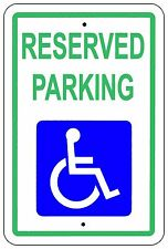 Reserved Handicap Parking Sign Aluminum Metal Signs