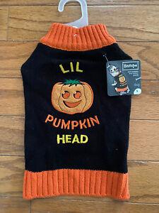 Petco Boutique Pumpkin Dog Sweater Size Small