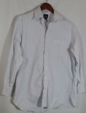 Jos. A. Bank Brand Striped Button Up Men's Dress Shirt in Size 15 1/2 x 32