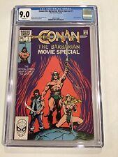 Conan the Barbarian Movie special #1 CGC 9.0 1982 Marvel Movie Adapt : New Frame