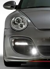 Porsche 997 Turbo GT2 style CLEAR COLOR LED DRL turn signal flasher lights
