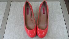 Retail $185 5/48 Womens Fashion Hot Coral Patent Heels R shoe Sz6 L shoe Sz 6.5
