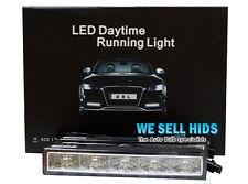 2 X BIANCO 5 LED Marcia Diurna Drl Giorno Luce Universale Esterno Auto Anteriore Luce