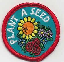 Girl Boy Cub PLANT A SEED Growing Fun Patches Crests Badges SCOUTS GUIDE from