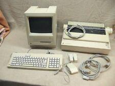 Complete Vtg. Apple Macintosh SE M501 Computer System Printer Imagerwriter II