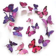 12 stickers Muraux De Papillons 3D Pour Chambre Salon Cuisine Jardin...à Prix GO