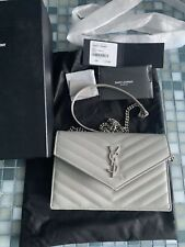 Authentic Yves Saint Laurent YSL Wallet on Chain Small Crossbody Bag WOC