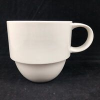 Crate Barrel Staxx Coffee Tea Mug Cup Stackable White Porcelain