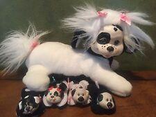 VINTAGE 1991 HASBRO PUPPY SURPRISE DALMATIAN W/ 4 PUPPIES - PLAYFUL HAIR - RARE