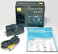 Nikon Coolpix S8200 16.1Mp Digital Camera - Pre-owned with box, Av cable