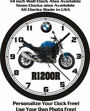 2016 BMW R1200R MOTORCYCLE WALL CLOCK-FREE USA SHIP!
