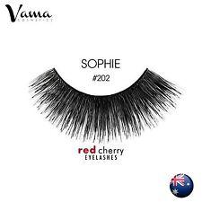RED CHERRY #202 False Eyelashes Fake Lashes 100% Human Hair Black AUS SELLER