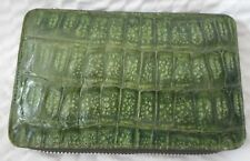 Genuine Crocodile Green Zip Around Ladies Wallet