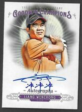 2018 UD Goodwin Champions Liang Wenchong Chinese Character Autograph AUTO Card