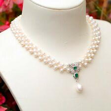 75cm Elegant White 6-6.5mm Freshwater Nearly Round pearl necklace AAA luster