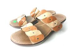 DANSKO Dee EUR 39 US 8.5M 9M Caramel/Sand Leather Slide Sandals Shoes