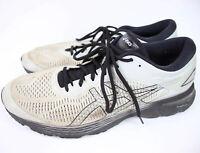 ASICS Men's GEL KAYANO 25 Size 15 Grey Black Running Shoes 1011A019