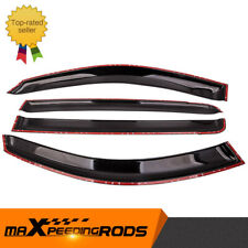 4X Weather Shields Sun Visors for Mitsubishi Triton ML MN Double Cab 2006-2015