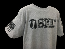 US Marines T Shirt Military shirt Flag on Shoulder Usmc