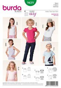 Burda Kids Schnittmuster - Shirt - Trägertop - Longsleeve - Nr. 9439